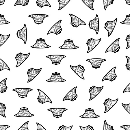 conical: seamless pattern with Conical Hat