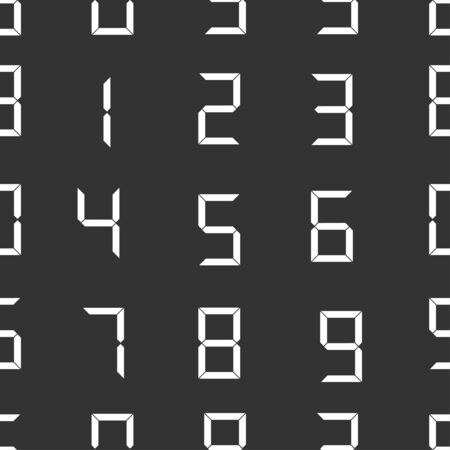 digital number: seamless pattern with digital number Illustration