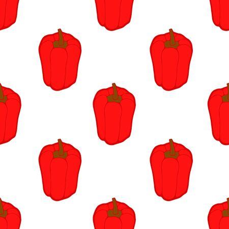 paprika: seamless pattern with paprika Illustration