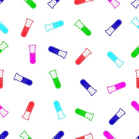 laboratory glass: seamless pattern with laboratory glass Illustration