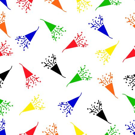 popper: seamless pattern with party popper
