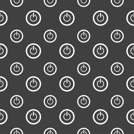 shutdown: seamless pattern with power button
