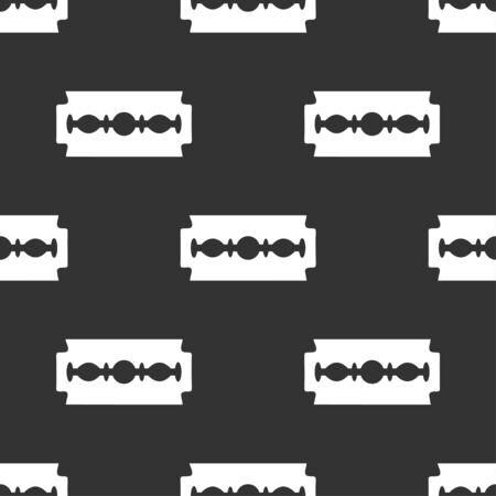 razor blade: seamless pattern with razor blade
