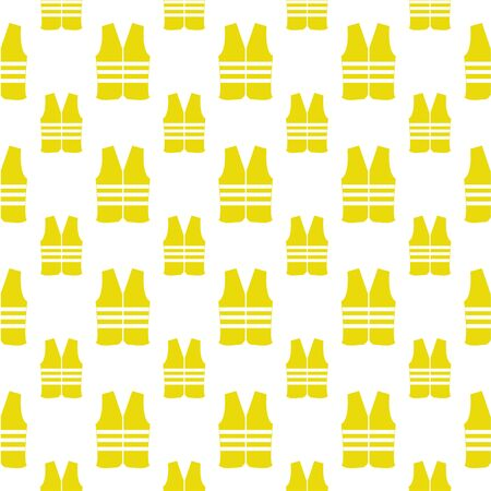 life jackets: seamless pattern with safety vest