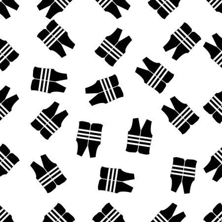 safety vest: seamless pattern with safety vest