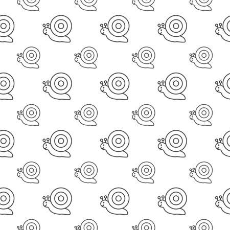 seamless pattern: seamless pattern with snails