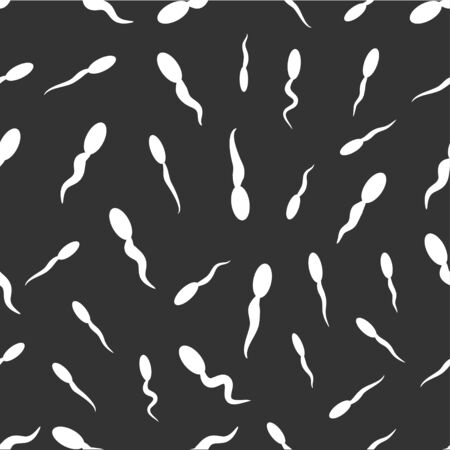 semen: seamless pattern with sperm Illustration