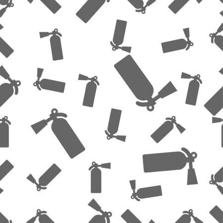 seamless pattern: seamless pattern with extinguisher