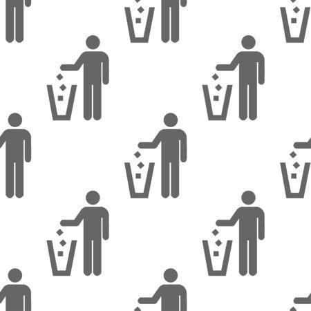 litter: seamless pattern with litter