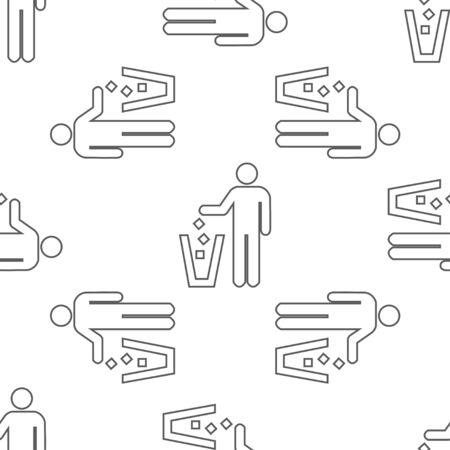 seamless pattern: seamless pattern with litter
