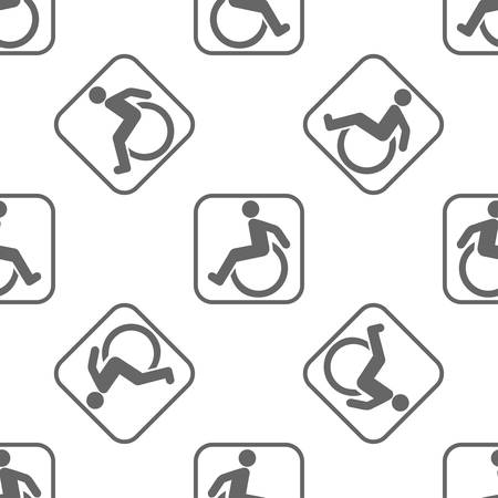 seamless pattern: seamless pattern with disabled