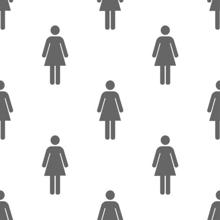 mall signs: seamless pattern with female toilet sign