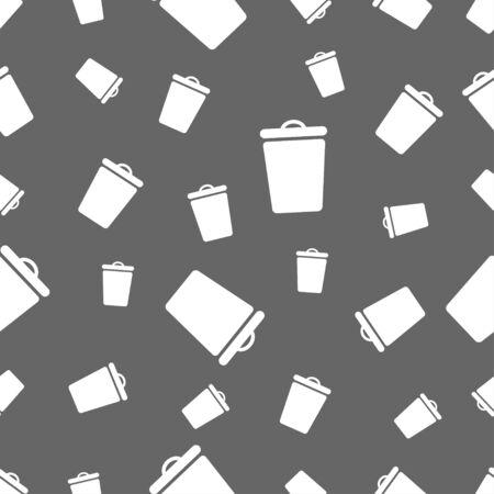 seamless pattern: seamless pattern with bin Illustration