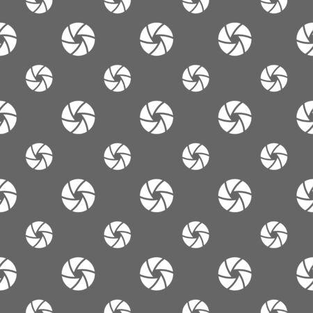 camera shutter: seamless pattern with camera shutter