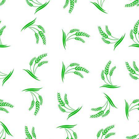 seamless pattern: seamless pattern with wheat