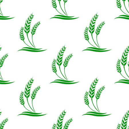 cultivation: seamless pattern with wheat