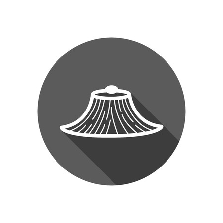 conical: Conical Hat icon,long shadow Illustration