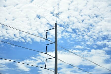 post: electricity post Stock Photo