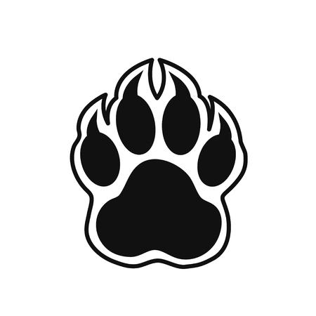 patas de perros: impresión de la pata Vectores