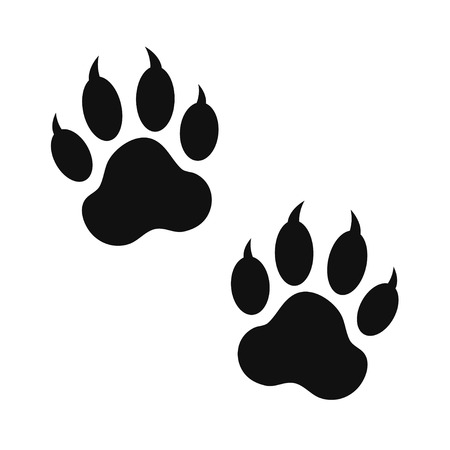 paw paw: paw print Illustration