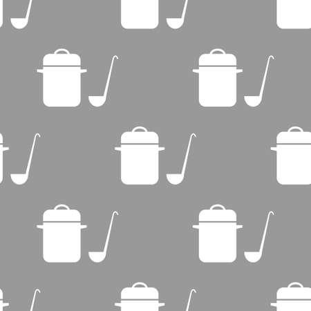 utensils: seamless pattern with Cooking utensils Illustration