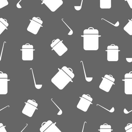 cooking utensils: seamless pattern with Cooking utensils Illustration