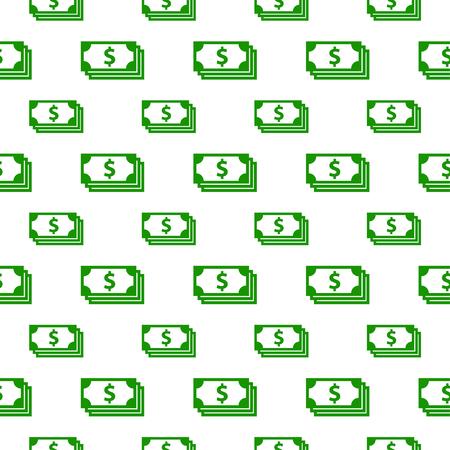 dollar bill: seamless pattern with dollar bill Illustration