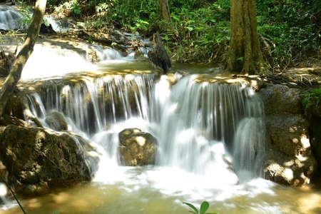 waterfall in the forest: Waterfall Kroeng Krawia, Kanchanaburi Province, Thailand
