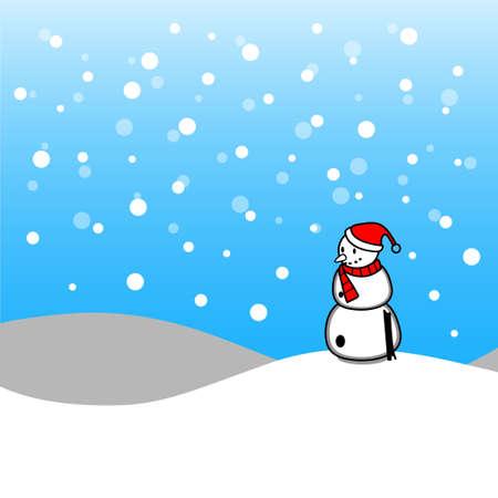 new year's cap: Christmas snowman Illustration