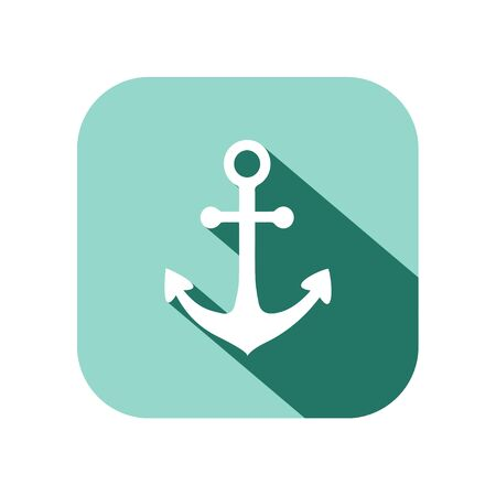 long: anchor icon with long shadow