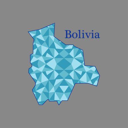 mapa de bolivia: mapa de Bolivia, bajo polígono