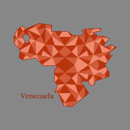mapa de venezuela: mapa de Venezuela, bajo pol�gono