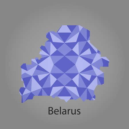 belarus: map of Belarus,low polygon