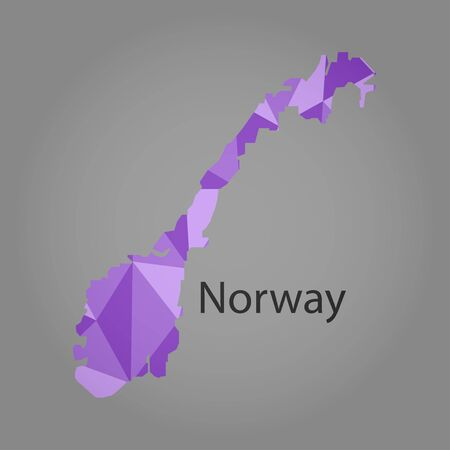 norway: map of Norway,low polygon Illustration