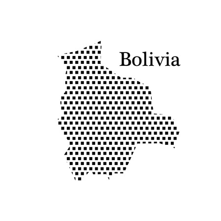 latin americans: map of Bolivia