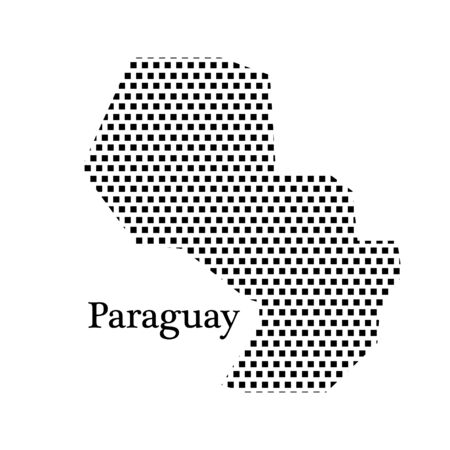 latin americans: map of Paraguay