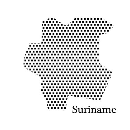 suriname: map of Suriname,dot