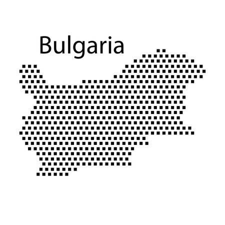 bulgaria: map of Bulgaria,dot