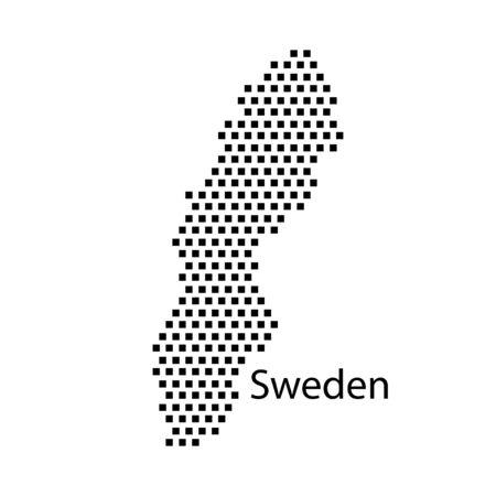 sweden: map of Sweden,dot