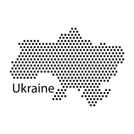 ukraine: map of Ukraine,dot
