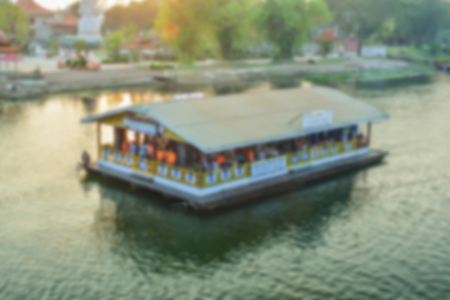 kerala: blur houseboat abstract background