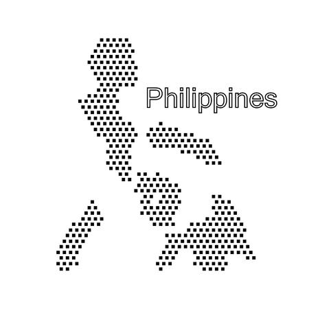 フィリピンの地図、ドット 写真素材 - 54928345