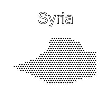 Syria: map of Syria,dot