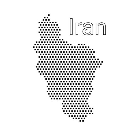 iran: map of Iran,dot Illustration