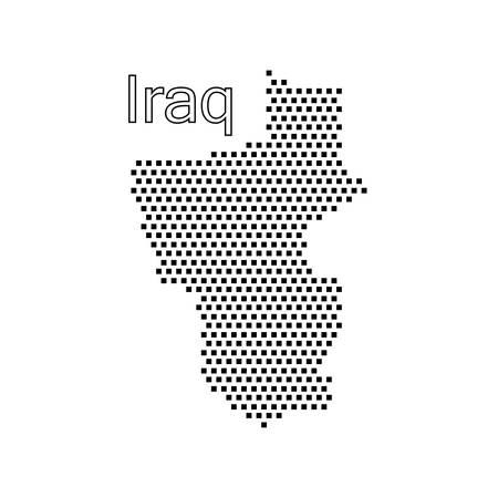 iraq: map of Iraq,dot
