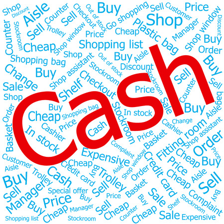 out of order: cash,Word cloud art background