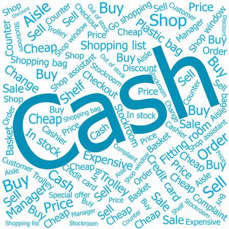 ledger: cash,Word cloud art background