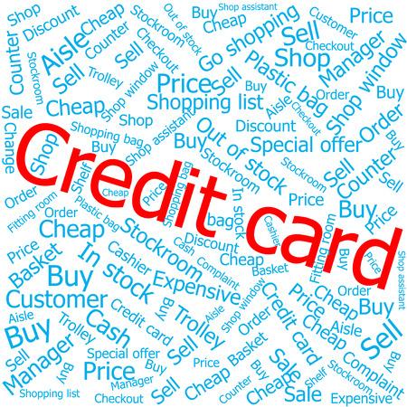 ledger: credit card,Word cloud art background