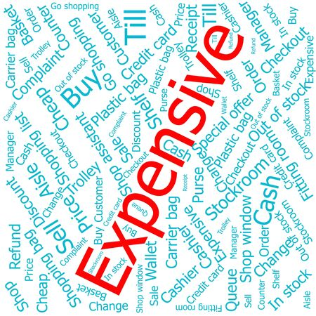 is expensive: expensive,Word cloud art background