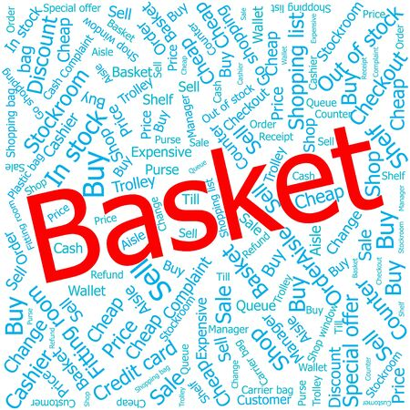 out of order: basket,Word cloud art background